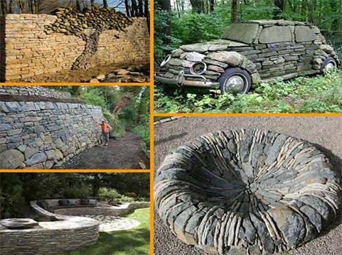 Украса на вашата градина с камъни, каменни постройки
